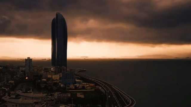 厦门发布雷电预警,黑云压境如大片
