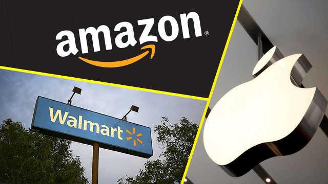 美国电商排行:苹果份额比沃尔玛多