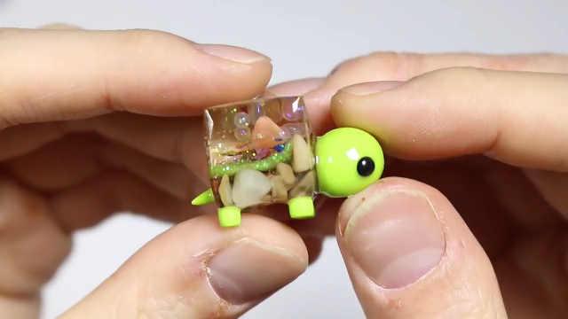 """滴胶做""""方壳乌龟"""",很多人没见过"""