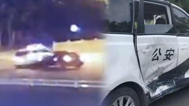 男子醉酒拒代驾,凌晨狂飙撞上警车