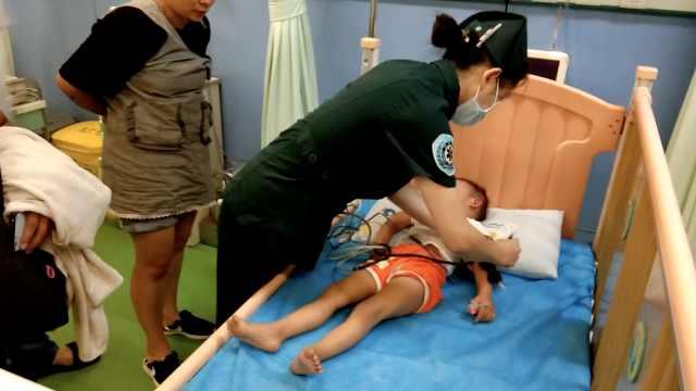 电三轮上皮一下,2岁女童被轧骨折