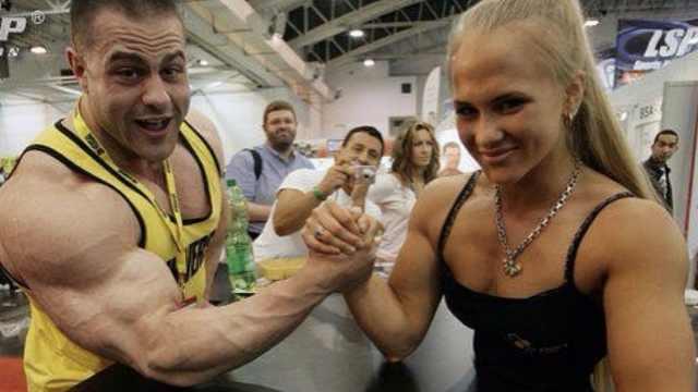 瑞典美女野兽,掰手腕赢同级别男性