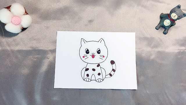 domi教你手绘小猫咪,毛茸茸的!