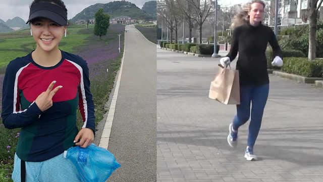 最潮健身方式!跑步捡垃圾风靡全球