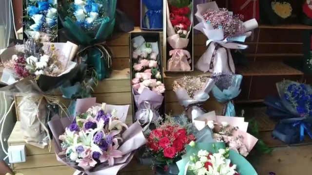良心花店七夕不涨价,玫瑰供不应求