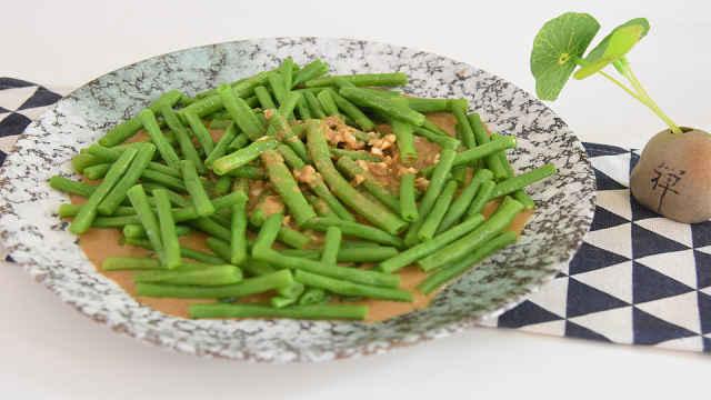 麻酱拌豇豆,别有风味的一道美食