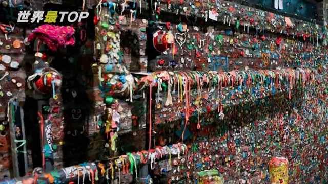 西雅图的口香糖墙,每天游客不断