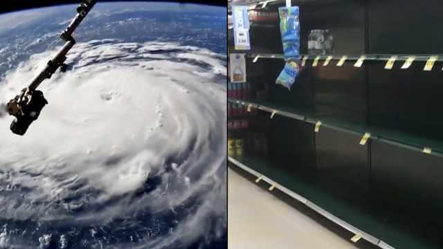 飓风直扑美东海岸,超市被抢购一空