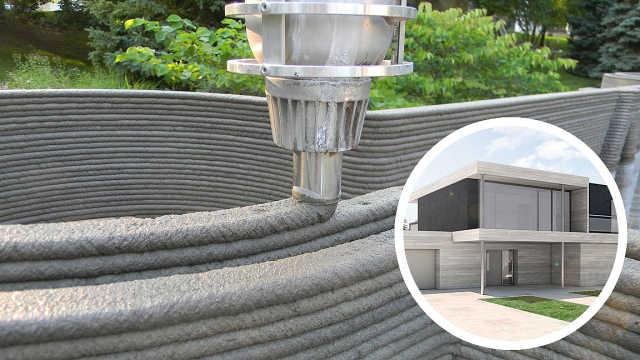 直播:神奇3D打印,两天建完小别墅!