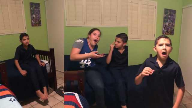 妈妈姐姐玩魔术,弟弟吓到崩溃大哭