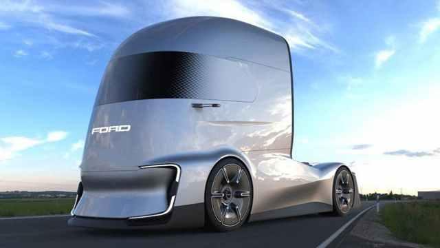 福特首款概念牵引卡车F-Vision