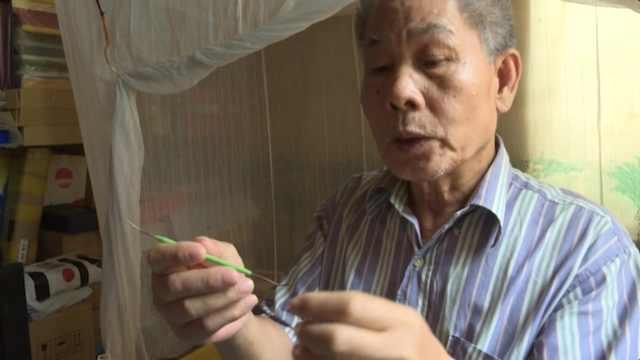 老人发明扣牙神器,已申请国家专利