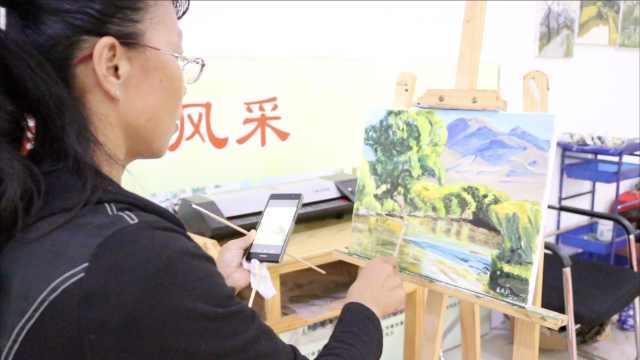 农民组团画油画,一幅能卖到八千
