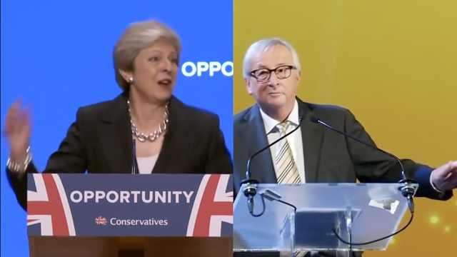 欧盟主席演讲前尬舞,被指嘲笑梅姨