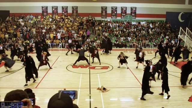 太有创意了!高中生群舞哈利·波特