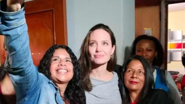 安吉丽娜·朱莉探访委内瑞拉难民营