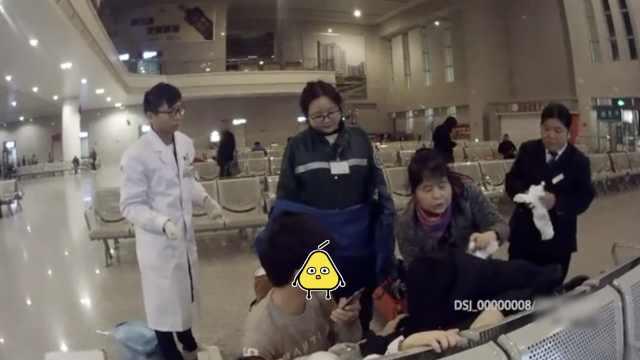 孕妇阵痛后去坐火车,娃在车站出世