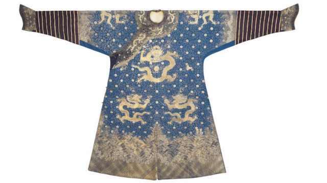 乾隆龙袍将在伦敦拍卖,估价超百万