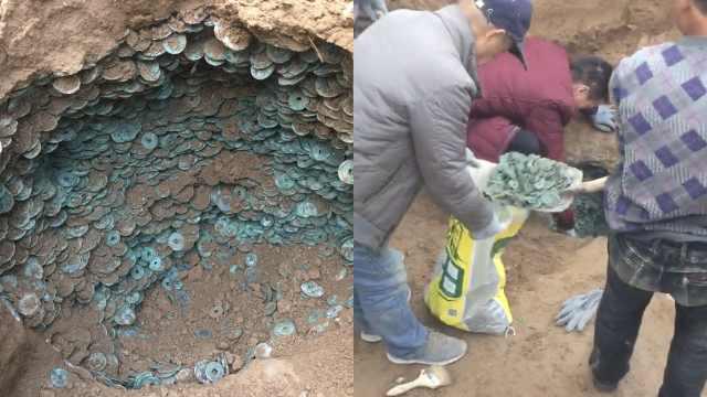 工地挖出近10万枚古币,均为唐宋造