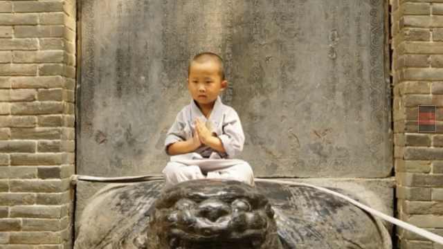 3岁少林最萌武僧:每天5点起,能吃肉