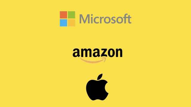 苹果市值跌至第三,落后微软亚马逊