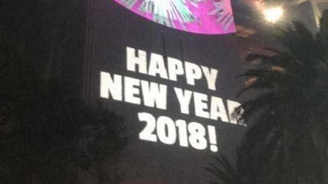 悉尼跨年烟火秀乌龙:新年快乐2018