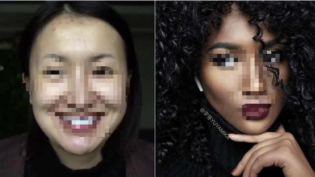 中国姑娘因仿妆黑人遭控种族歧视?