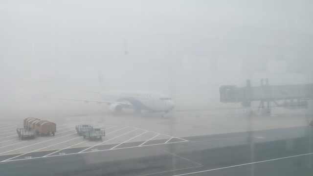 南京大雾,机场9小时航班无法起降