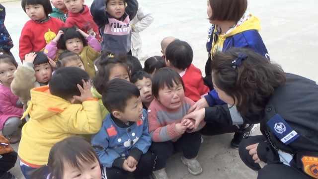 幼兒園地震逃生演練,萌娃哭成一片