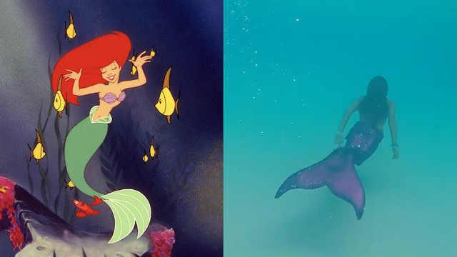 迪士尼乐园开设美人鱼课程