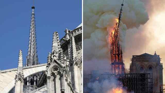 令人痛心!巴黎圣母院火灾前后对比