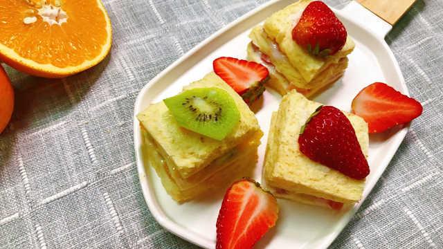 水果三明治,零食早餐两不误!