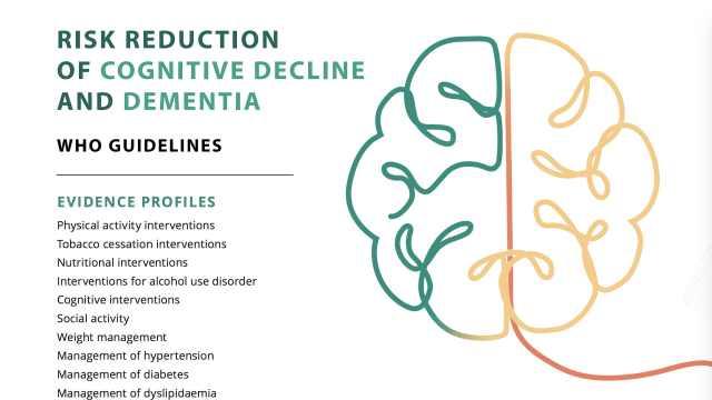 WHO发布失智症预防指南:戒烟少酒