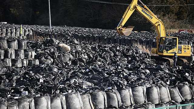 福島上千萬噸核污染土壤被裝袋填埋