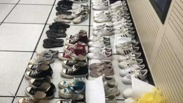 小伙偷名牌鞋卖被围堵,鞋柜藏51双