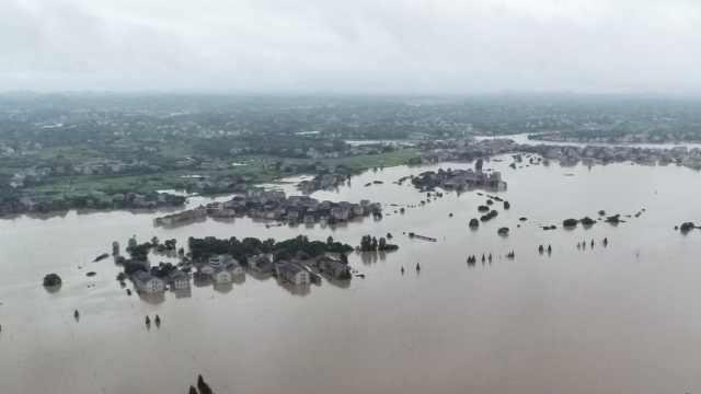 湖南攸县暴雨,水库泄洪3乡镇被淹