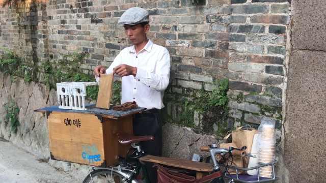 他骑车泡咖啡:灵感源自单车卖冰棍