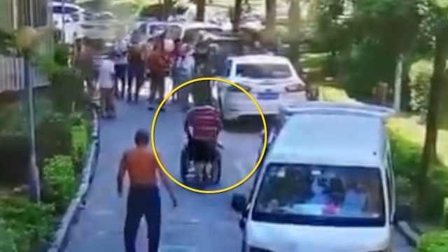 业主纠纷,男子竟推着轮椅老人撞人