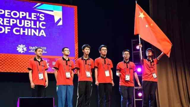 国际数学奥赛中国团体第一:6人6金