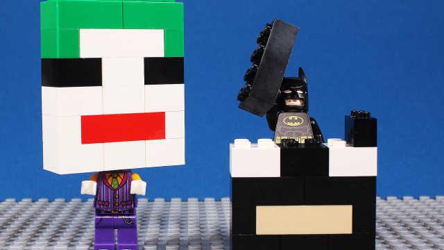乐高蝙蝠侠和小丑拼装马赛克大头
