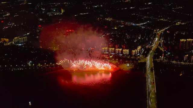 焰火晚会,献礼新中国成立70周年!