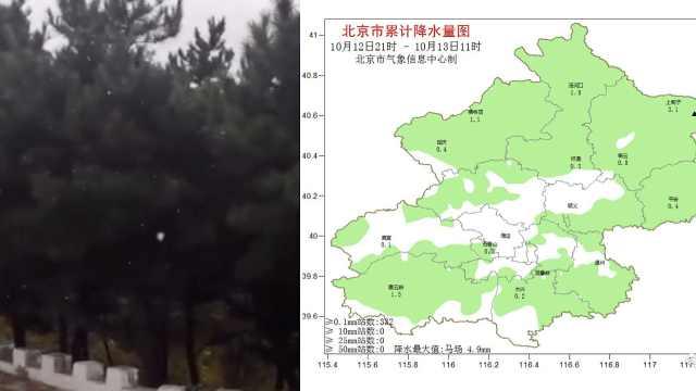 京郊飘雪啦!网友:说好的秋天呢