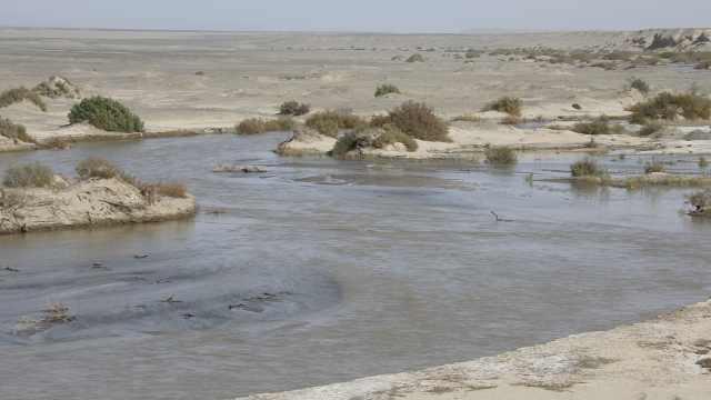 干涸300年,敦煌沙漠又现宽广湖泊