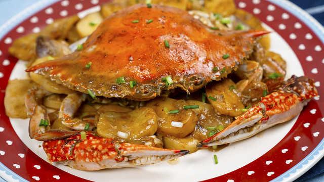 梭子蟹炒年糕,鲜爆味蕾的宇宙美味