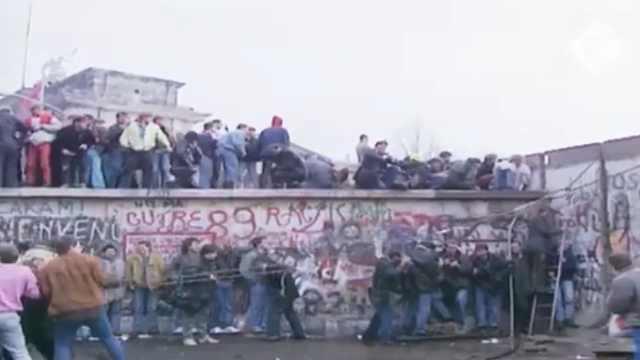 30周年!2分钟回顾柏林墙倒塌事件