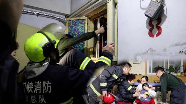家长外出煤气开着,1岁娃被反锁家中