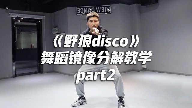 《野狼disco》舞蹈镜像分解教学p2
