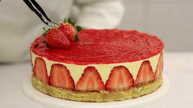 法式草莓蛋糕:升级奶馅