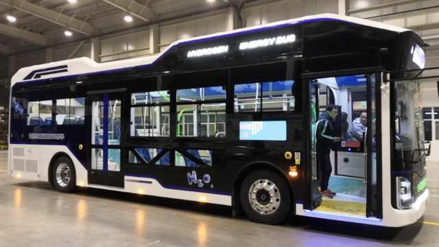 陕西迎首台氢燃料客车,称排水能喝