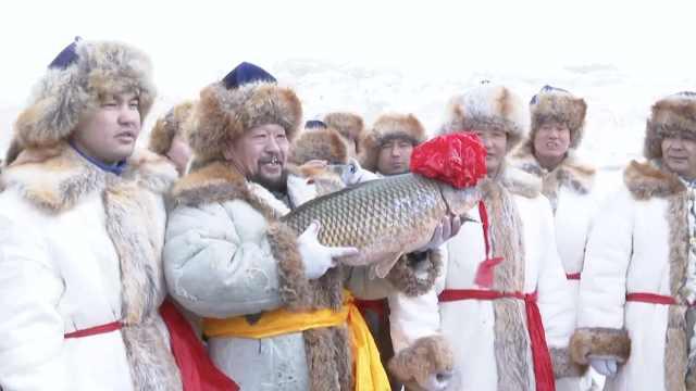 抢鱼纳福!冬捕节头鱼卖38.8888万